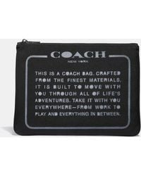 COACH - Large Multifunctional Pouch With Spray Storypatch - Lyst