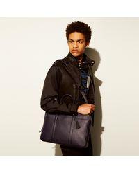 COACH Metropolitan Soft Brief In Refined Pebble Leather - Black