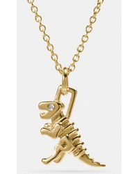 COACH - Mini Rexy Necklace - Lyst