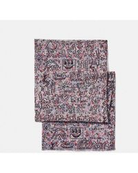 COACH | X Keith Haring Embellished Scarf | Lyst