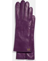 COACH - Sculpted Signature Tech Gloves - Lyst