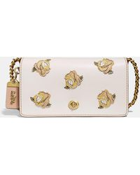 COACH - Dinky With Rose Applique - Lyst