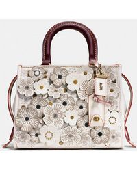 COACH - Rogue 25 With Tea Rose Applique - Lyst