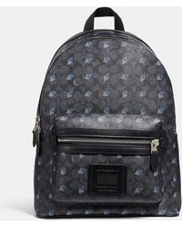COACH - Academy Backpack In Signature Canvas With Dot Diamond Print - Lyst