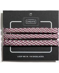 COACH Multi Woven Shoe Laces - Multicolour