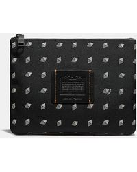 COACH - Multifunctional Pouch With Dot Diamond Print - Lyst
