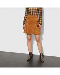 COACH - A-line Skirt With Studs - Lyst