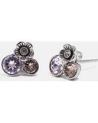 COACH - Tea Rose Cluster Earrings - Lyst
