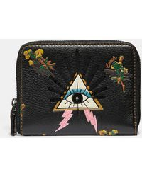 COACH - Pyramid Eye Small Zip Around Wallet - Lyst