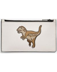 COACH - Zip Card Case With Mascot - Lyst