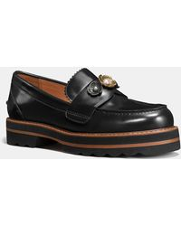 COACH - Lenox Loafer With Tea Rose - Lyst