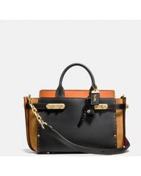 COACH | Double Swagger In Colorblock | Lyst