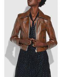 COACH - Landscape Leather Jacket - Lyst