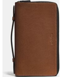 COACH - Double Zip Travel Organizer In Sport Calf Leather - Lyst
