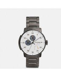 COACH - Bleecker Ionized Plated Bracelet Watch - Lyst