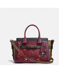 COACH - Swagger 27 With Colorblock Patchwork Prairie Rivets - Lyst