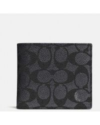 COACH - Coin Wallet In Signature Canvas - Lyst