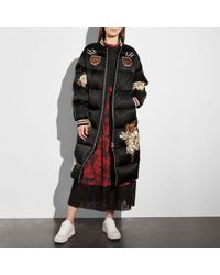 COACH - Oversized Patches Nylon Puffer Coat - Lyst