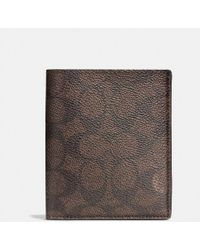 COACH | Slim Coin Wallet In Signature Coated Canvas | Lyst