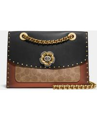 COACH - Parker With Rivets And Snakeskin Detail - Lyst