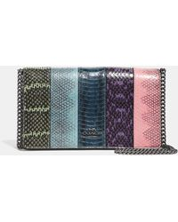 COACH - Callie Foldover Chain Clutch In Ombre Snakeskin - Lyst