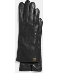 COACH - Sculpted Signature Touchscreen Gloves - Lyst