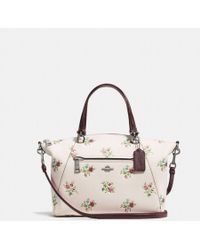 COACH - Prairie Satchel With Cross Stitch Floral Print - Lyst