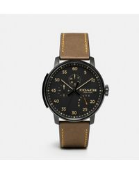 COACH - Bleecker Leather Strap Watch - Lyst