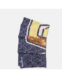 COACH - Space Patchwork Oblong Scarf - Lyst