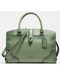 COACH | Mercer Satchel 30 In Glovetanned Leather With Tooled Turnlock | Lyst
