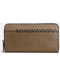 COACH - Rip And Repair Accordion Wallet In Buffalo-embossed Leather - Lyst