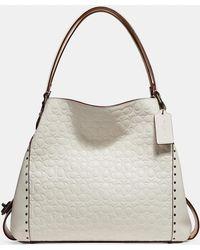 COACH Edie Shoulder Bag 42 With Embellished Leopard Print in Black ... 653759669a26e