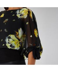 Coast - Melody Print Overlay Top - Lyst