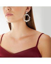 Coast - Ashley Crystal Circle Earrings - Lyst