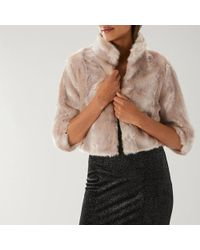 Coast - Laura Faux Fur Jacket - Lyst