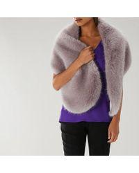 Coast - Macie Lurex Faux Fur Scarf - Lyst