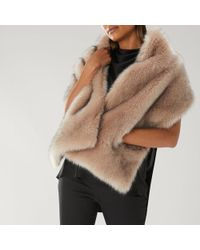 Coast - Estelle Pocket Faux Fur Scarf - Lyst