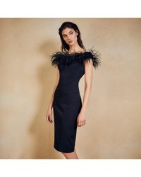 Coast - Holly Feather Cocktail Dress - Lyst
