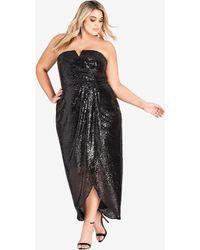 City Chic - Sequin Siren Maxi Dress - Lyst