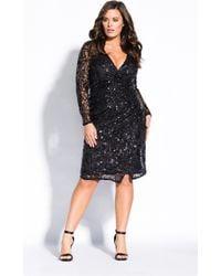 City Chic - Razzle Dazzle Dress - Black - Lyst