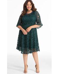 Kiyonna - Sofia Sequin Lace Dress - Lyst