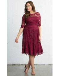 0bca527249f Lyst - Kiyonna Lumiere Lace Dress