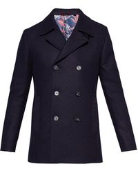 Ted Baker - Zachary Wool Peacoat - Lyst