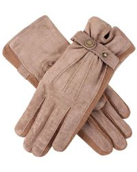 Dents - Laura Strap Detail Suede Gloves - Lyst