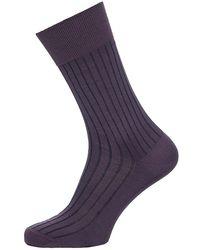 Falke - Shadow Ribbed Cotton Socks - Lyst