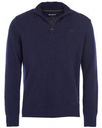 Barbour - Essential Lambswool Half Zip Sweater - Lyst