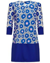 Almost Famous - Floral Block Tunic Dress - Lyst