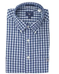 GANT - Heather Oxford Gingham Shirt - Lyst