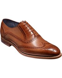 Barker Valiant Hand-painted Leather Brogue - Brown