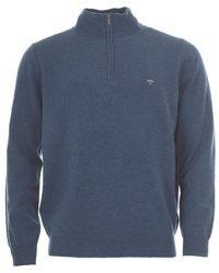 Fynch-Hatton - Cashmere Blend 1/4 Zip Sweater - Lyst